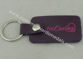China Fit Curves Personalized Leather Key Chains 2.5 mm With Inserted Piece supplier