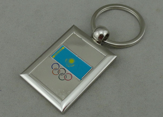 China Imitation Hard Enamel Olympic Promotional Key Chain With Nickel Plating , Zinc Alloy Special Key Hole supplier