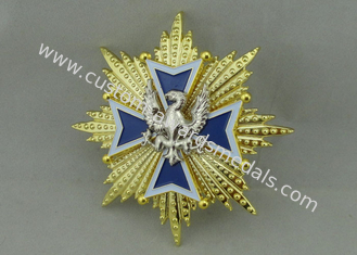 China 3D Zinc Alloy Die Casting Souvenir Badge 2 Pieces fixed supplier