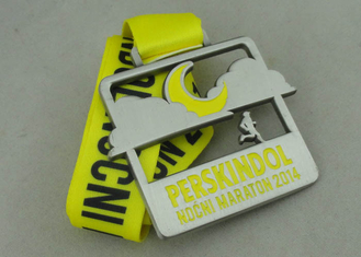 China Marathon Ribbon Medals, Antique Nickel Plating with Zinc alloy supplier