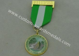 China Nigerian Institution Surveyors Custom Medal Awards Zinc Alloy  / Offset Printing Piece supplier
