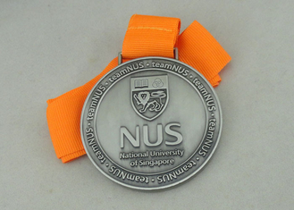 China Long Ribbon National University Singapore Medals With  Zinc Alloy Die Casting supplier