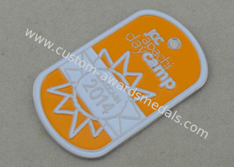 China Soft Enamel Camp Personalized Dog Tags By Aluminum Stamped supplier