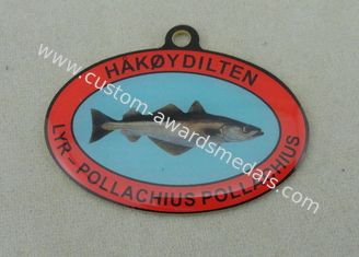 China Custom Offset Printing Enamel Medal For HAKOYDILTEN , Stainless Steel Norway Medals supplier