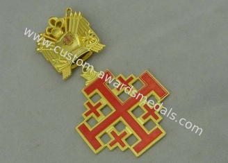 China 3D Gold Custom Medal Awards , Zinc Alloy Synthetic Enamel Medal supplier
