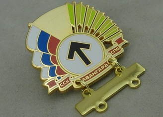 China Gold Hard Enamel Army Pin Brass Stamped 1.5 inch With Brooch supplier