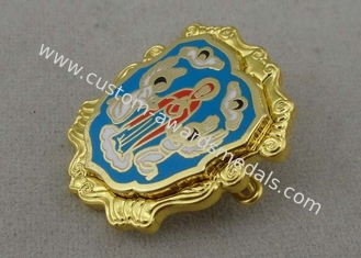 China Multi Piece Combined Imitation Hard Enamel Pin Brass Die Struck With Safty Pin supplier
