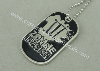 China Nickel Double Side Police Personalised Dog Tags Die Stamped Soft Enamel supplier