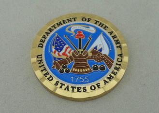 China Brass Die Stamped Custom Military Coins Hard Enamel And Diamond supplier