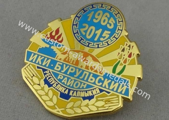 China Military Synthetic Hard Enamel Pin Zinc Alloy Die Casting With Brooch / Gold Plating supplier