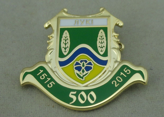China 3D Gold Hard Enamel Pin Brass Stamped With Brooch For Army supplier