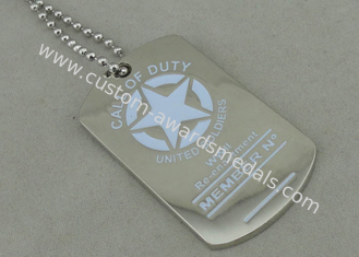 China Military Personalised Dog Tags Die Casting Enamel Nickel Plating supplier