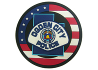China Ogden City Police Promotion 2D Custom Plastic Coasters Silicon factory