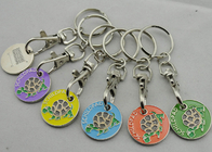 China Die stamping, Die Cast, Die Struck Metal Tortoise Shopping Trolley Coin Key Chain factory