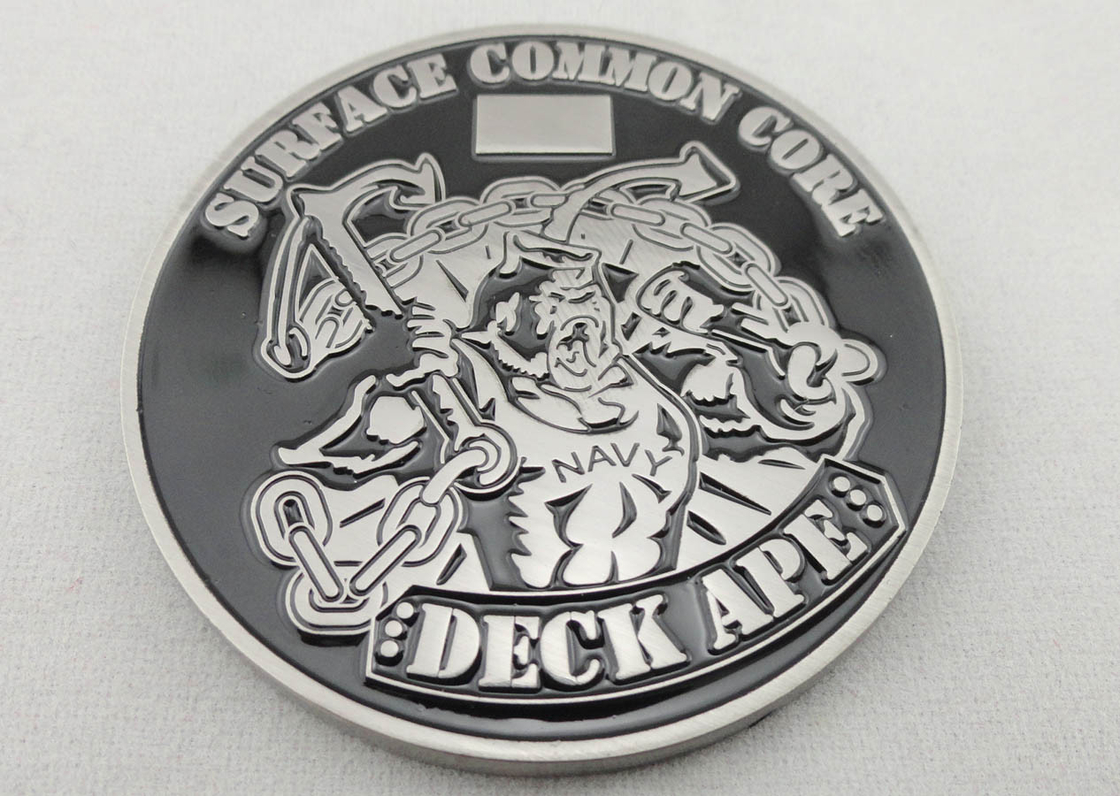 Soft Enamel Nickel Plating DECK APE Coin / Zinc Alloy Metal
