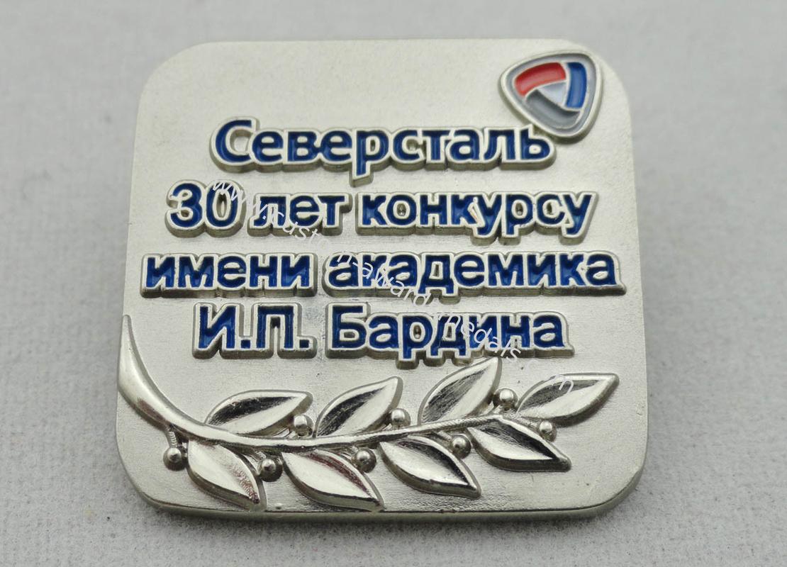 Zinc Alloy, Copper, Pewter 3D Russia Lapel Pin, Brooch Soft