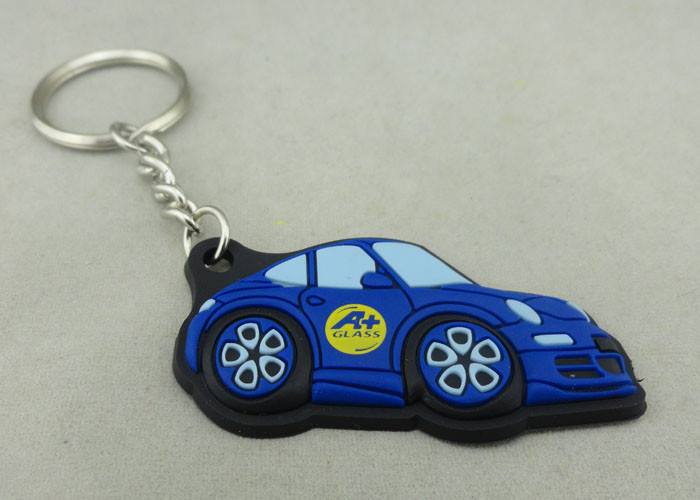 Customized Colorful PVC Keychain , 3D Soft PVC Promotional