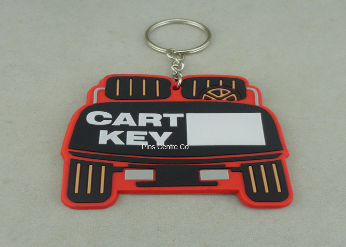 Stamping / Die Casting Rubber Key Chain , Design Your Own