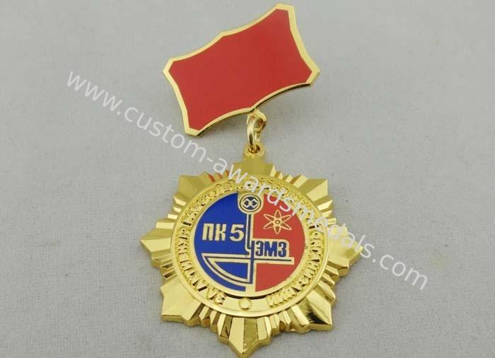 3D Gold Ural Meh Zavo Custom Awards Medals , 40mm Imitation