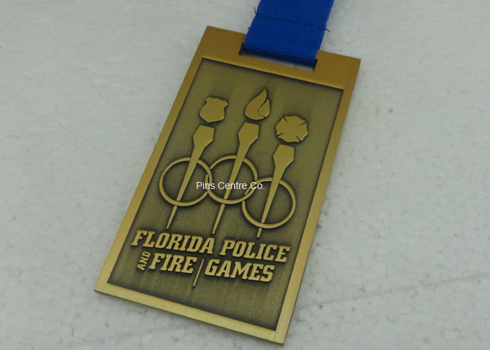 Customized Gold 3D Marathon Medals , Die Casting Sport
