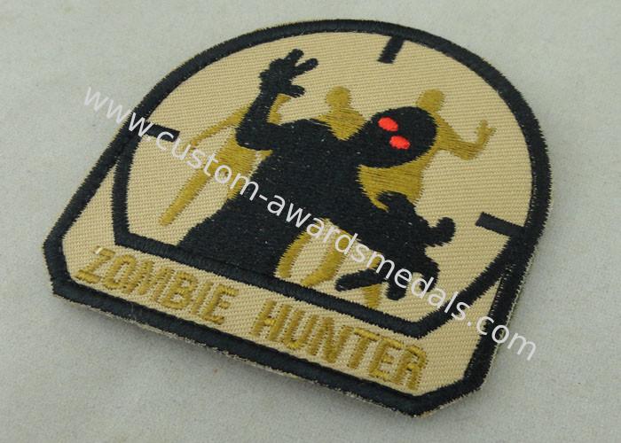 Economic Military Uniform Badges , Iron Glue Cotton Fabric
