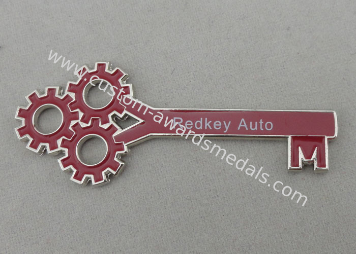 redkey auto key chain for promotional gift with nickel plating