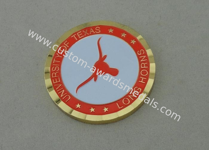 Die Casting University of Texas Personalized Coins With Rope Edge