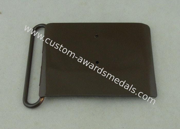 Silkscreen / Offset Printing Custom Made Belt Buckles With Black