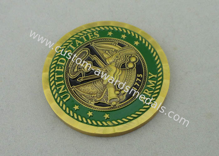 Antique Brass Plating This We Will Defend custom made coins By Brass Die Stamped