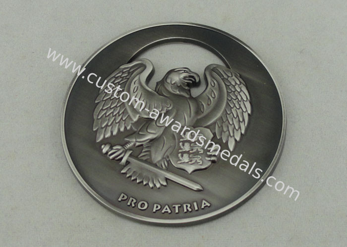2 5 '' Zinc Alloy 3D Personalized Coins , Antique Nickel Plating