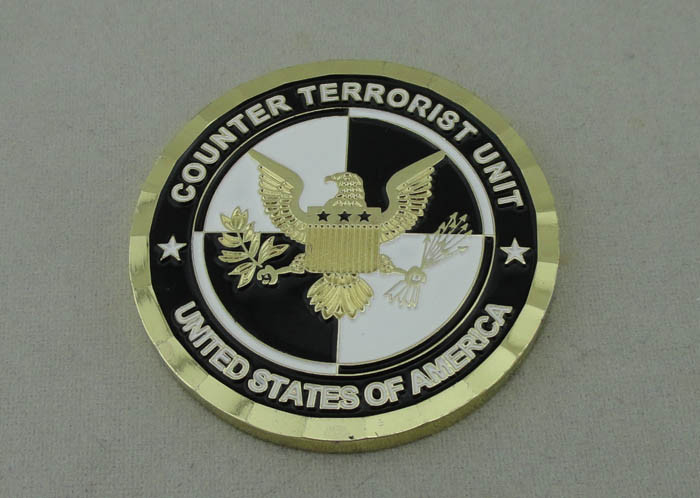 1 3/4 Inch Custom Military Coins Counter Terrorist Unit