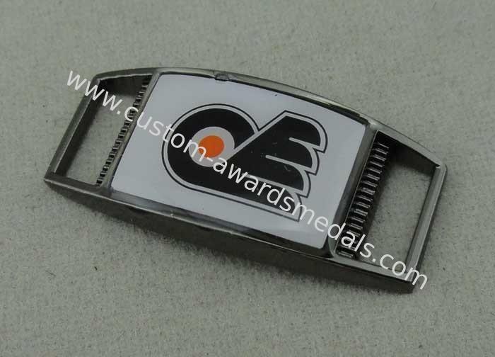 Shoe Enamel Lapel Pin With Zinc Alloy , Black Nickel Plating 1 25 Inch