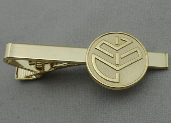 China Aluminum, Stainless Steel, Copper Stamping Personalized Tie Bar, Collar Tie Bars With Gold Plating distributor