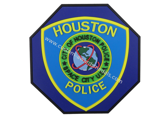 China Special Shape Houston Police 2D PVC Coaster, Custom Drink Coasters distributor