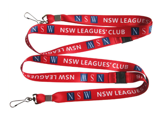China Heat Transfer Printing Nsw Leagues Club Sublimation Lanyard For Id Card, Work Card, Key distributor