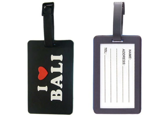 China I love Bali silicon / Soft Pvc Customized Luggage Tag With Double Sided distributor