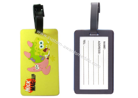 China Nick Mag Club Injection Or Silk Screen Printing Luggage Tag, Funny Luggage Tags distributor