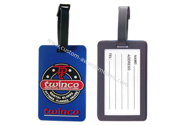 China Custom Twinco Promotional Soft Pvc Luggage Tag, Personalized Luggage Tags distributor