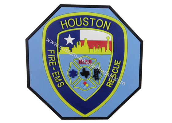 China Promotional Souvenir Gift Houston Rescue Pvc Coaster, Customized Coaster distributor