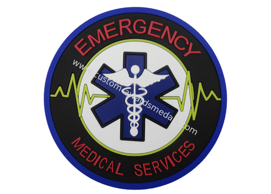 China Emergency Medical Services PVC Coaster, Custom Drink Coasters For Business Promotion distributor