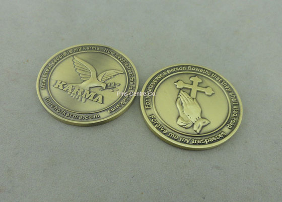 China Hans Benedikt Personalized Coins By Zinc Alloy Die Casting With Antique Nickel Plating distributor