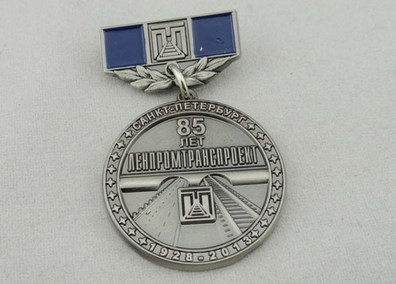 China 32mm Zinc Alloy Custom Medal Awards Soft Enamel , Antique Nickel Plating distributor