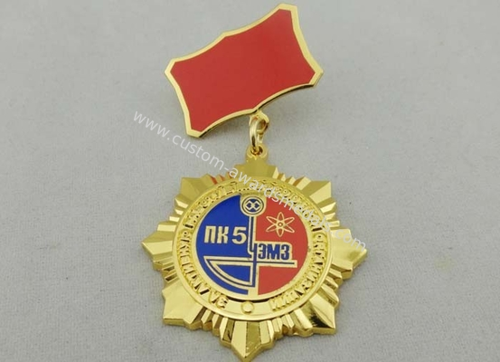 China 3D Gold Ural Meh Zavo Custom Awards Medals , 40mm Imitation Hard Enamel distributor