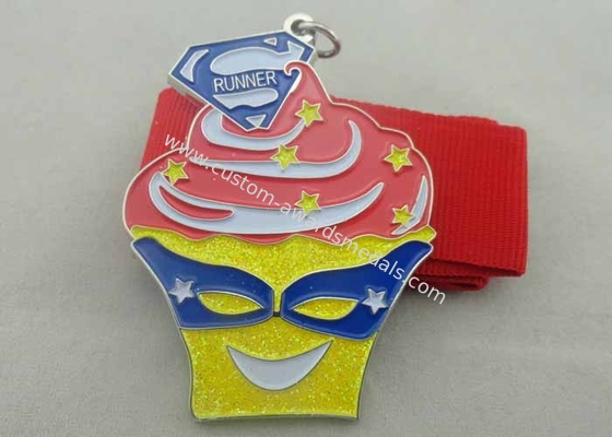China 3D Ice Cream Enamel Medal Zinc Alloy / Brass / Copper , Disney distributor