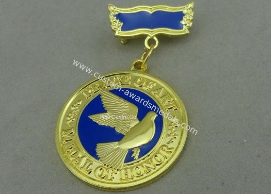 China 3D Brass Die Stamped Custom Awards Medals Hard Enamel 100mm * 70mm factory