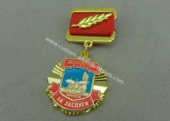 China Zinc Alloy Die Casting Custom Awards Medals , Military Medals With Hard Enamel factory