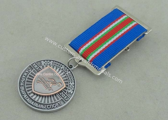 China Die Struck Antique Copper Police Medals , Law Enforcement 10K Running Medals factory