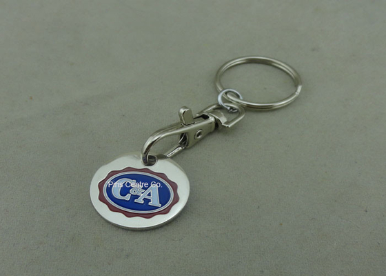 China Die Struck Customized Enamel Trolley Token Keyring For Ornaments factory
