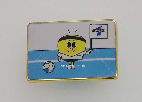 China Customized Die Casting Lapel Pin Badges , Soft Enamel Pins For Sports factory