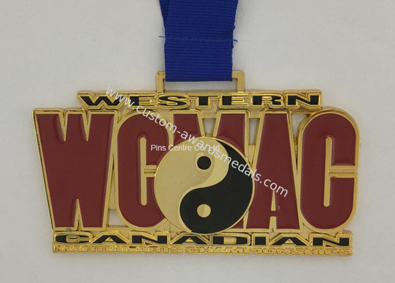 China Personalized Heat Transfer Ribbon Medals Shiny Copper Plated Eco Friendly factory